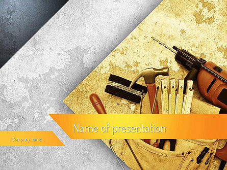 Construction Tools Presentation Template For Powerpoint And Keynote Ppt Star