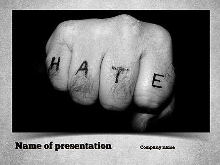 Hate Presentation Template, Master Slide
