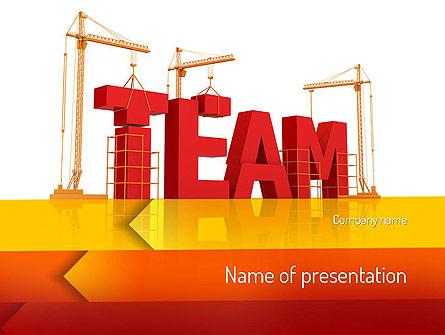 Team Building Under Construction Presentation Template For