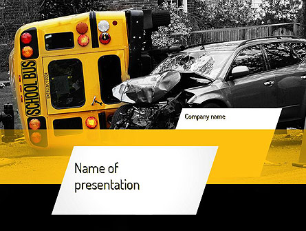 School Bus Accident Presentation Template, Master Slide