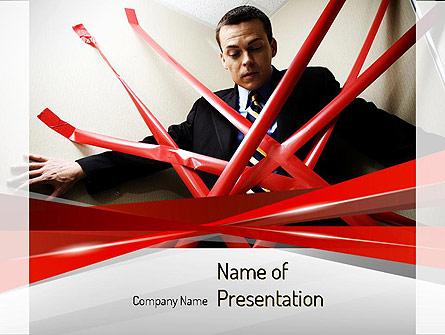 Red Tape Presentation Template, Master Slide
