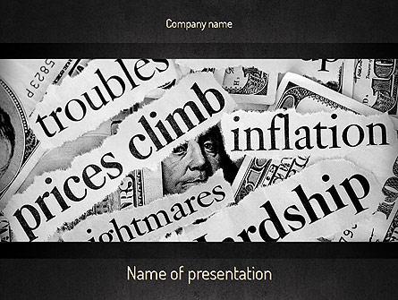 Great Recession Presentation Template, Master Slide