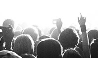 Silhouettes of Concert Crowd Presentation Template