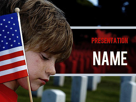 Veterans Day Presentation Template, Master Slide