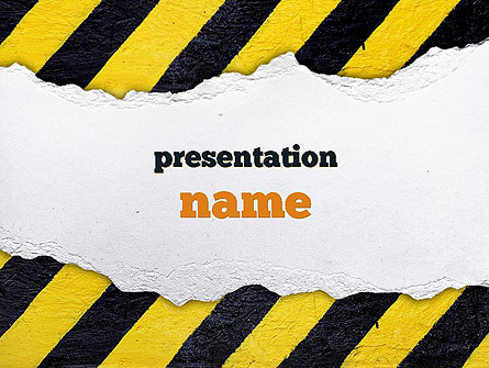 under construction themed presentation template for powerpoint and, Powerpoint templates
