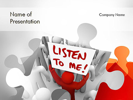 Social Leadership Presentation Template, Master Slide