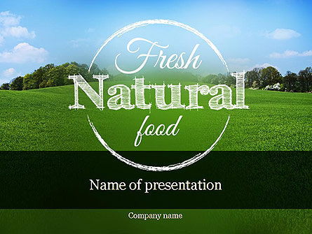 Organic Products Company Presentation Template, Master Slide