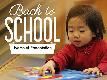 Child Care Presentation Template, Master Slide