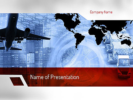logistics services presentation template for powerpoint