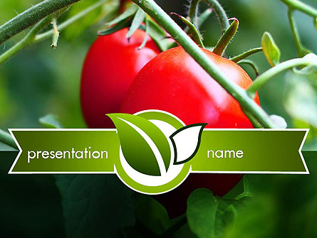 Ripe Tomatoes Presentation Template, Master Slide