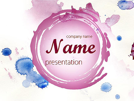 Watercolor Stains Presentation Template, Master Slide