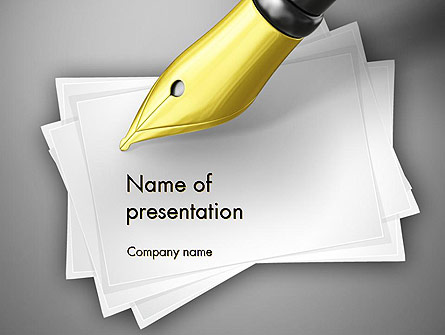 Inkpen Presentation Template, Master Slide