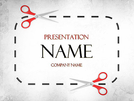 coupon border presentation template for powerpoint and keynote, Modern powerpoint