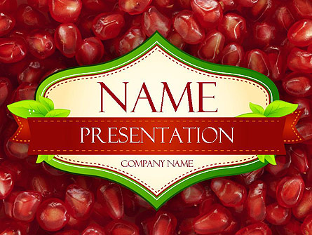 Pomegranate Seeds Presentation Template, Master Slide