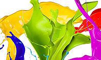 Color Paint Splash Presentation Template