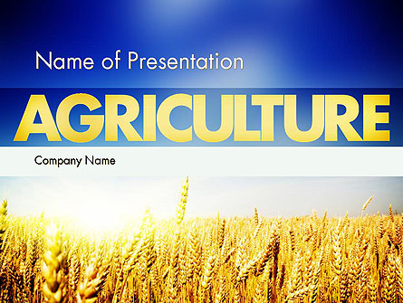 Agricultural Land Presentation Template, Master Slide