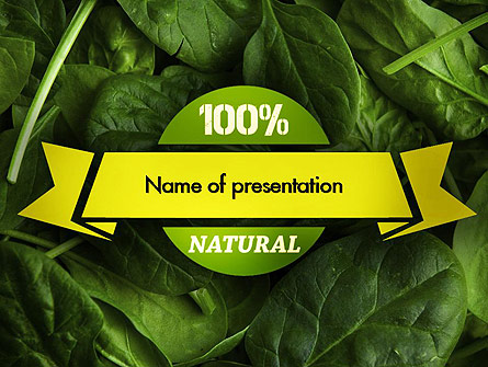 Spinach Presentation Template, Master Slide