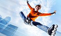 Roller Skate Freestyle Presentation Template
