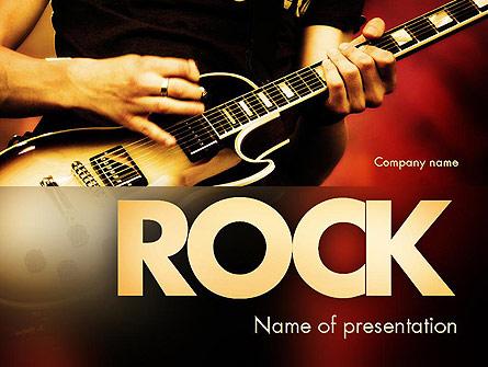 Rock guitar presentation template for powerpoint and keynote ppt star rock guitar presentation template master slide toneelgroepblik Images