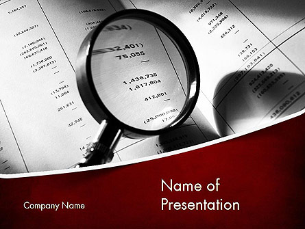 financial fraud research presentation template for powerpoint and, Presentation templates