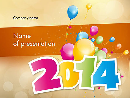 Colorful happy new year 2014 presentation template for powerpoint colorful happy new year 2014 presentation template master slide toneelgroepblik Images