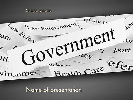 Government Presentation Template, Master Slide