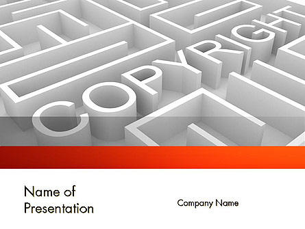 Intellectual Property Maze Presentation Template, Master Slide