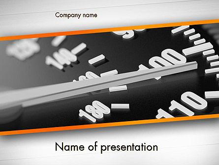 Speeding Presentation Template, Master Slide