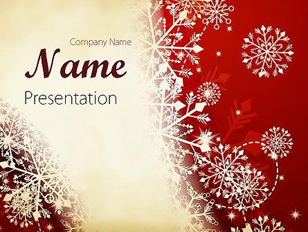 Winter Snowflakes Background Presentation Template For Powerpoint