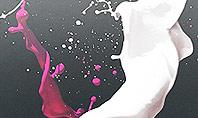 Splash of Color from Broken Egg Presentation Template