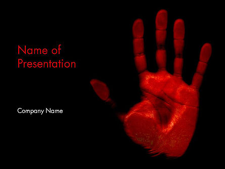 Blood Hand Presentation Template, Master Slide