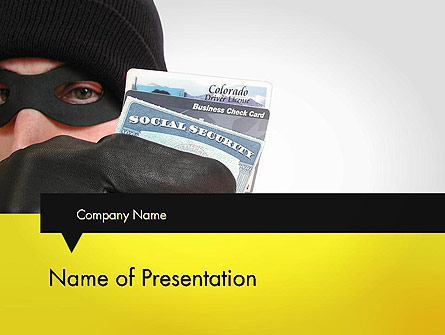Identity Theft Presentation Template, Master Slide
