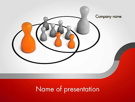 Spheres of Influence Intersection Presentation Template, Master Slide