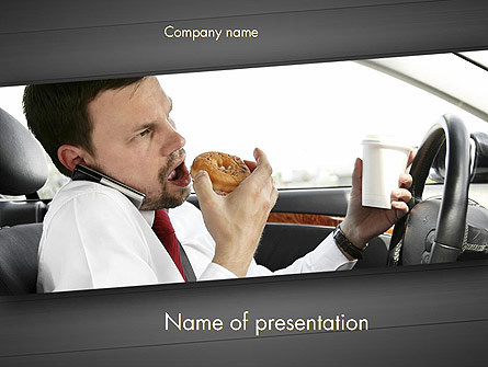 Distracted Driving Presentation Template, Master Slide
