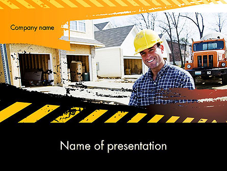 Smiling Builder Presentation Template, Master Slide