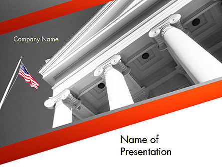 Court Building Presentation Template, Master Slide