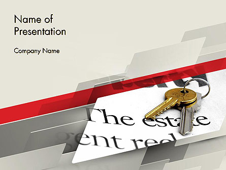 Estate Theme Presentation Template, Master Slide