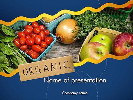 Organic Foods Presentation Template, Master Slide