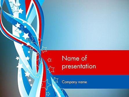 American Flag Theme Presentation Template, Master Slide