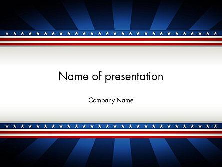 American Festive Theme Presentation Template, Master Slide