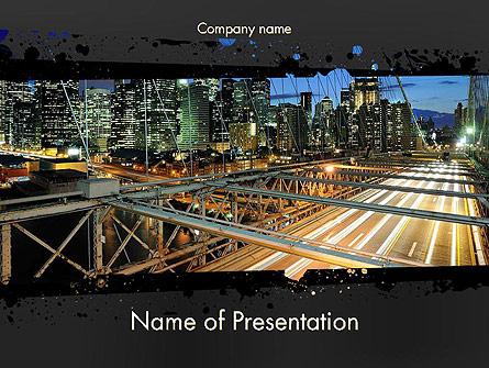 Brooklyn Bridge New York Presentation Template, Master Slide