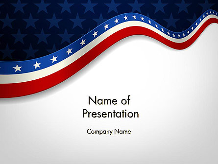 July 4th Banner Presentation Template, Master Slide