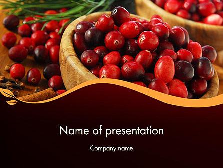 Cranberries Presentation Template, Master Slide