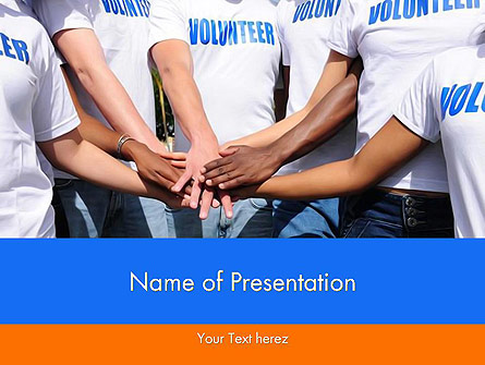 Volunteers Presentation Template, Master Slide