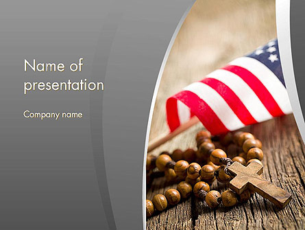 American Christianity Presentation Template, Master Slide