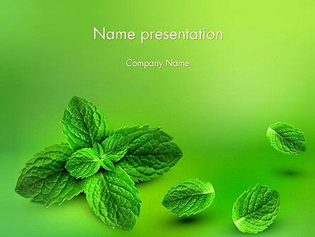 Mint Green Background Presentation Template, Master Slide