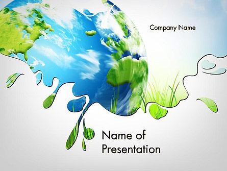 Green World Presentation Template, Master Slide