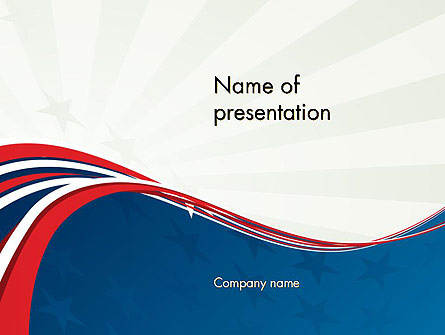 Patriotic Themed Presentation Template, Master Slide