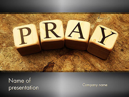 Time to Pray Presentation Template, Master Slide
