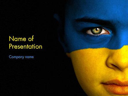 Flag of Ukraine Presentation Template, Master Slide